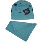 Комплект детский подростковый шапка+шарф для девочек (весна-осень)