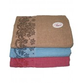 Полотенце банное махровое с льняной вставкой