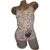 Комплект женский 65247 майка+ шорты хлопок  S-M, L-XL MISS VICTORIA