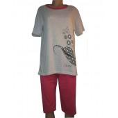 Комплект женский 9017 трессы+футболка L-4XL  БАТАЛ ASMA