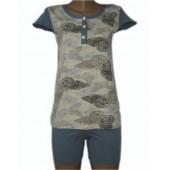 Комплект женский 65209 футболка+шорты х-б MISS VICTORIA
