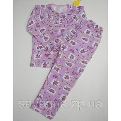 Пижама детская 4-003н начес кнопка 30-34р САВАННА